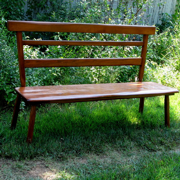 Beautiful handcrafted oak bench