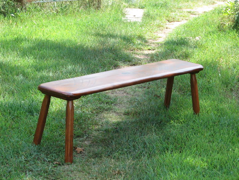 low oak bench