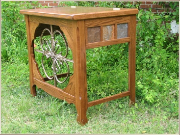 ironwork_oak table
